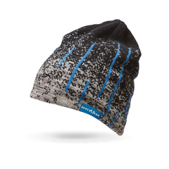 Benchmade 50016 Custom Knit Blue Streak Beanie Hat Grey/Black/Blue