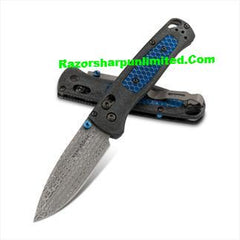 Benchmade 535-191 Bugout Gold Class Manual AXIS Lock Knife Ghost CF Damasteel