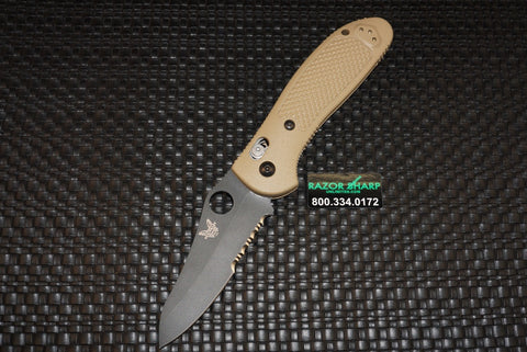 Benchmade 550SBKHGSN Sand Griptilian AXIS Lock Knife Black S30V Serrated