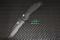 Benchmade 553SBK Tanto AXIS Lock Knife Black Serrated Edge