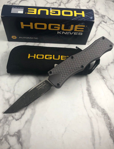 Hogue Limited Edition Custom Knife OTF Automatic Knife Rain Drop Damascus
