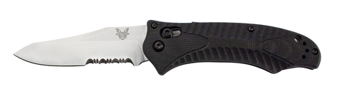 Benchmade 950S-1 Rift Osborne Axis Lock Knife Serrated Satin