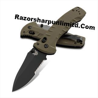 Benchmade 980 OD Green Torrent Axis Lock Manual Opening Knife Satin Plain