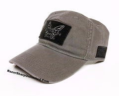 Benchmade 989796F Knives Tactical Grey Hat Velcro Patch Adjustable