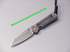 Chris Reeve Small Sebenza 21 Insingo Knife Micarta Inlays Stonewash Plain