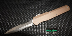 Microtech 242-11TA Cypher Microtech D/E Serrated OTF Automatic Knife Stonewash Tactical