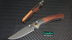 Benchmade 15080-2 Hunt Crooked River AXIS Lock Knife Dymondwood Satin Plain