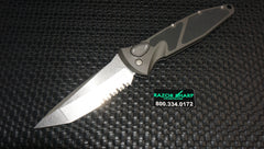 Microtech Large Socom Tanto Automatic Knife Satin Serrated Blade