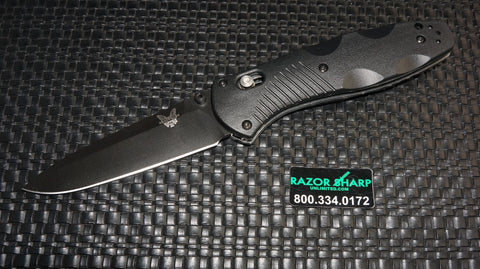 Benchmade 580BK Barrage Assist Opening Axis Lock Knife Black Plain