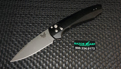 Benchmade 490BK Amicus Flipper AXIS-Assist Opening Knife Black Plain Edge