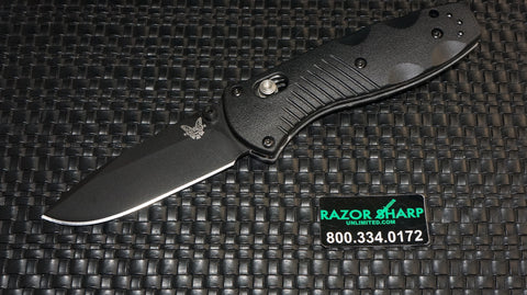 Benchmade 585BK Mini Barrage AXIS Assist Opening Knife Black Plain