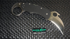 Spyderco C170GP Karahawk Folding Knife w/ Emerson Opener Satin Plain
