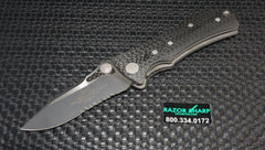 Microtech MTX2 D/A Automatic Knife Full Carbon Fiber Black Serrated Rare