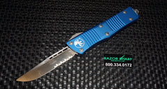 Microtech 139-5-BL Blue Troodon OTF S/E Automatic Knife Satin Serrated Edge