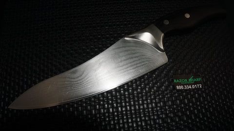 "Shun DM0500 Ken Onion Damascus Blade 8"" Chef's Knife Used Condition"