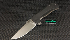 Zt Zero Tolerance 0909 Flipper Knife Black G-10 Stonewash Plain Edge