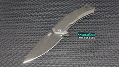 Zt Zero Tolerance 0095BW Flipper Knife Blackwash Titanium Blackwash Plain