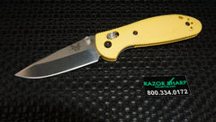 Benchmade 556-Yel-S30V Mini Griptilian AXIS Lock Knife Yellow Satin Plain