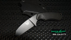 Benchmade 125BK Azeria Fixed Blade Knife Black Grivory Black Plain