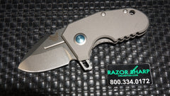Benchmade 756 Sibert Micro Pocket Rocket Flipper Knife Titanium Stonewash Plain