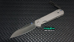 Chris Reeve Large Sebenza 21 Insingo Folding Knife Stonewash Plain Edge