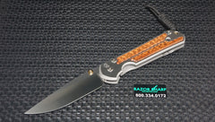 Chris Reeve Large Sebenza 21 Snakewood Knife Stonewash Plain Edge