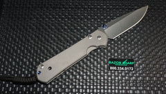 Chris Reeve Left Handed Large Sebenza 21 Frame Lock Knife Stonewash Plain