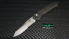 Benchmade 940S-1 Osborne AXIS Lock Knife Carbon Fiber Stonewash Serrated