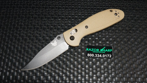 Benchmade 556BKSN-S30V Desert Tan Mini Griptilian AXIS Knife Black Plain