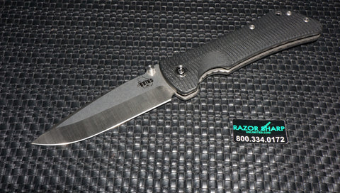 Southern Grind Bad Monkey Folding Satin Drop Point Blade Black G10 Handle
