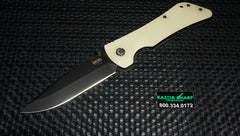 Southern Grind Bad Monkey Folding Knife Black Drop Point Blade Jade Ghost Green G10 Handle