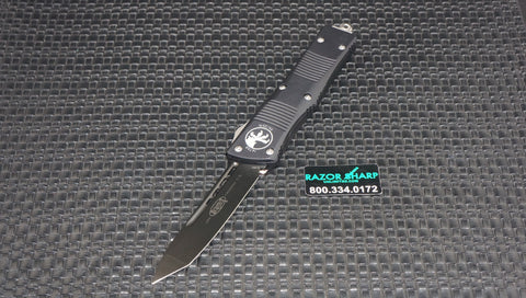 Microtech 140-1 Troodon Tanto OTF Knife Black Plain Edge