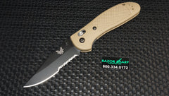 Benchmade 551SBKSN Desert Tan Griptilian AXIS Lock Knife Black Serrated