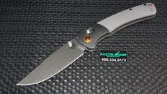 Benchmade 15080-1 Hunt Crooked River AXIS Lock Knife Gray G-10 Satin Plain