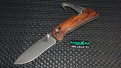 Benchmade 15060-2 Grizzly Creek Folder Wood AXIS Lock Knife w/ Gut Hook