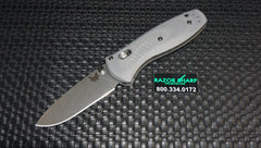 Benchmade 585-2 Mini Barrage AXIS-Assist Gray G-10 Satin Plain Edge