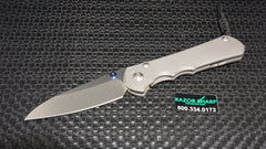 Chris Reeve Large Inkosi Frame Lock Knife Insigo Stonewash Plain Edge
