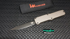 HK 54013 Hadron OTF Drop Point Automatic Knife Dark Earth Aluminum Black Plain