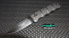 Boker Kals74BK Kalashnikov Drop Point Automatic Knife Black Plain Edge
