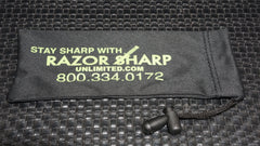 Razor Sharp Unlimited (4) Black Micro Fiber Knife Bag with Draw String