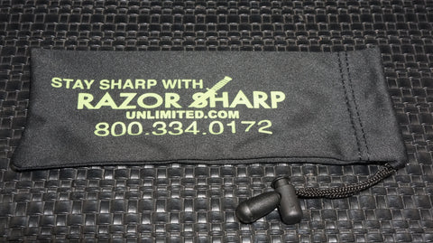 Razor Sharp Unlimited (12) Black Micro Fiber Knife Bag with Draw String