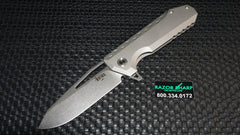 Southern Grind Titanium Penguin Flipper Folding Drop Point Blade Ti Handle
