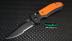 Benchmade 9170SBK-ORG Triage AXIS Lock Automatic Knife Black Serrated