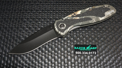 Kershaw 1670CAMO Blur Assisted Opening Knife Black Plain Blade