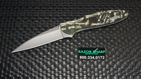 Kershaw 1660CAMO  Leek Assisted Opening Knife Bead Blast Plain