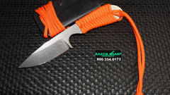 White River Knives Backpacker Fixed Blade Blaze Orange Paracord Kydex Sheath