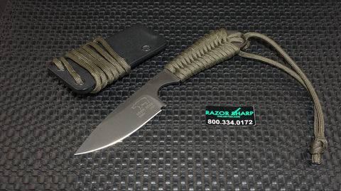 White River Knives Backpacker Fixed ION Blade OD Green Paracord Kydex Sheath