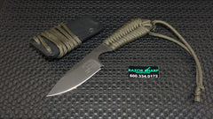 White River Knives Backpacker Fixed ION Blade OD Green Paracord Kydex Sheath - WRBP-ODGRN