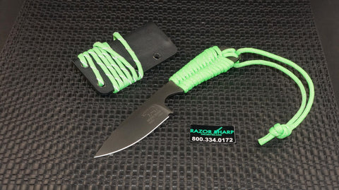 White River Knives Backpacker Fixed ION Blade Refective Green Paracord Kydex Sheath WRBP-REFGRN