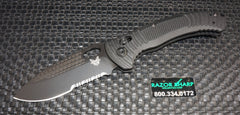 Benchmade 737SBK Aileron AXIS Lock Knife Black G-10 Black Serrated Edge
